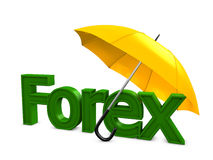 Forex umbrella Royalty Free Stock Photography
