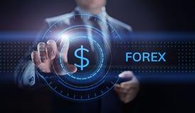 Forex van de bedrijfs wisselkoersinternet van de handelmunt de investerings concept stock illustratie