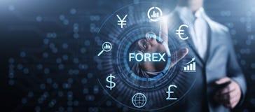 Forex van de bedrijfs wisselkoersinternet van de handelmunt de investerings concept royalty-vrije illustratie