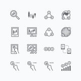 Forex vector vlakke pictogrammenreeks van bedrijfsfinanciën online handel vector illustratie