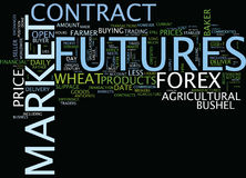 Forex Versus Futures Text Background  Word Cloud Concept Stock Images