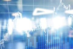 Forexhandel, finansmarknad, investeringbegrepp på bakgrund för affärsmitt Royaltyfria Foton