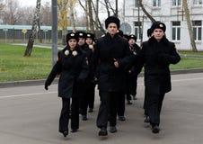 Forez dedans les corps de cadet de la police Image libre de droits