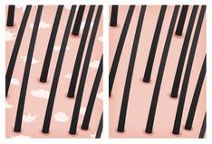 Forfora e nessuna pelle della forfora Fotografia Stock