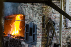 Forge, fire, furnace Stock Image