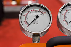 Forge gauge / gage in a machine. Close up stock photo