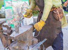Forge by hand Stock Images