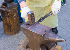 Forge by hand Royalty Free Stock Photos