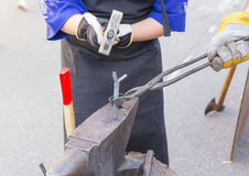 Forge by hand Royalty Free Stock Image