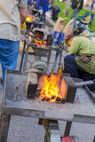 Forge by hand Royalty Free Stock Photography
