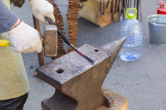 Forge by hand Stock Photography