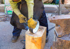Forge by hand Stock Photo