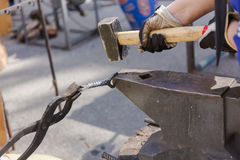 Forge by hand Stock Photos