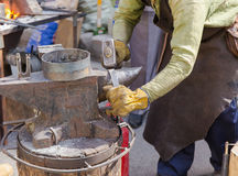 Forge by hand Royalty Free Stock Photo