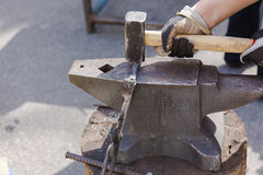 Forge by hand Stock Image