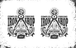 Forge, logo d'atelier Images libres de droits