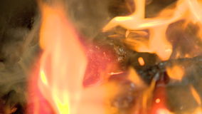 Forge, rose, flower, to make red hot, symbol, sign. A blacksmith forges from a metal work of art stock footage