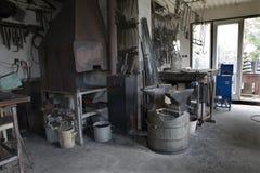 Forge - salle de travail Photo libre de droits