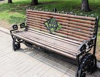 Forged ławka Zdjęcie Royalty Free