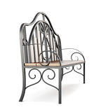 Forged bench on white background. 3d rendering.  Royalty Free Stock Photo