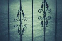 Forged brama rocznika styl zdjęcia royalty free
