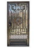 Forged bronze decorative door gate isolated over white backgroun Royalty Free Stock Images