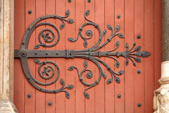 Forged decorative door Royalty Free Stock Photography
