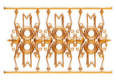 Forged decorative gate ornament isolated on white background Stock Image