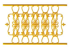 Forged decorative gate ornament isolated on white background Royalty Free Stock Photos