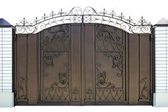 Forged  decorative  gates. Stock Image