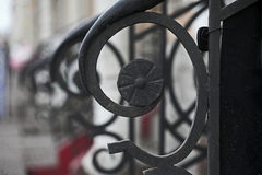 Forged decorative rails Royalty Free Stock Images