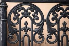 Forged dekoracyjni poręcze Fotografia Royalty Free