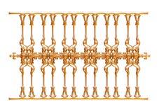 Forged dekoracyjny brama ornament odizolowywający na białym tle Zdjęcie Stock