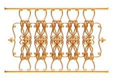Forged dekoracyjny brama ornament odizolowywający na białym tle Obraz Stock