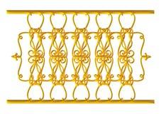 Forged dekoracyjny brama ornament odizolowywający na białym tle Zdjęcia Royalty Free