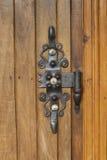 Forged drzwiowego zawiasu pracy blacksmith Zdjęcia Stock