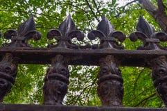 Forged żelazny ogrodzenie w Montreal Obraz Royalty Free
