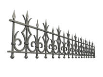 Forged fence Stock Photo