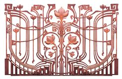 Forged flower decorative element gates Hammered . Royalty Free Stock Image