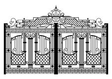 Forged gate. Architecture detail. Vector EPS10 Royalty Free Stock Images