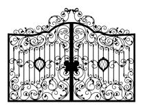 Forged gate. Architecture detail. Vector EPS10 Stock Photo