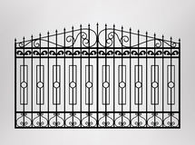 Forged gate. Stock Photo