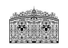 Forged gate. Architecture detail. Vector EPS10 Royalty Free Stock Photos