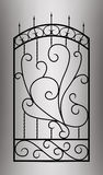 Forged gate door. Royalty Free Stock Image