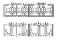 Forged gate and fence Stock Photo