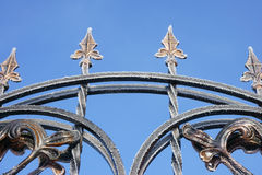 forged gate in hoarfrost Royalty Free Stock Photos