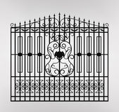 Forged gate icon illustration. Royalty Free Stock Photo