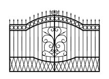 Forged gate isolated on white background. Architecture detail. Vector EPS10 Stock Images