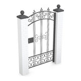 Forged gate isolated on white background. 3d rendering Royalty Free Stock Photography