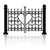 Forged gate of love Stock Images